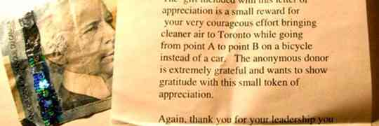 Anonymous Thank You Letter For Bicyclists