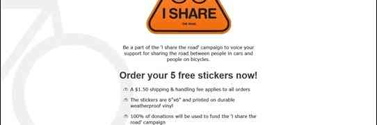 'i share the road' campaign