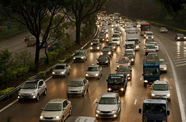 Singapore Traffic Jam