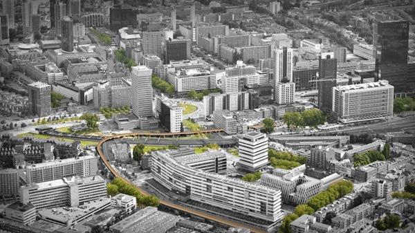 Rotterdam pedestrian bridge