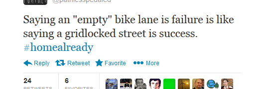 Quote Of The Week: Empty Bike Lane