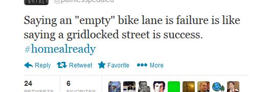 Quote Of The Week: Empty Bike Lane