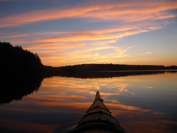 Kayaking at Silent Lake Provincial Park